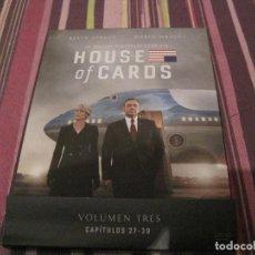 Series de TV: SERIE DVD HOUSE OF CARDS TEMPORADA 3 TV . Lote 199999951