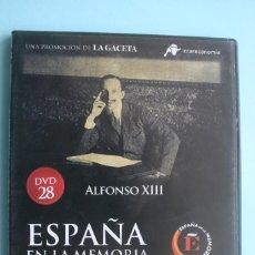 Series de TV: ALFONSO XIII – DVD DOCUMENTAL Nº 28 ESPAÑA EN LA MEMORIA - LA GACETA - VEASE CONTENIDO. Lote 202839780