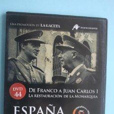 Series de TV: DE FRANCO A JUAN CARLOS I RESTAURACION MONARQUIA – DVD Nº 44 ESPAÑA EN LA MEMORIA - LA GACETA. Lote 203616732