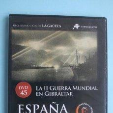 Series de TV: LA II GUERRA MUNDIAL EN GIBRALTAR – DVD DOCUMENTAL Nº 45 ESPAÑA EN LA MEMORIA - LA GACETA. Lote 203616955