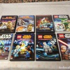 Serie di TV: LOTE DE PELÍCULAS Y SERIES DE LEGO STAR WARS, EN DVD'S ORIGINALES. Lote 205181965