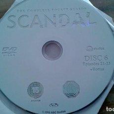 Series de TV: SERIE TV SCANDAL CUARTA TEMPORADA 4 FALTA SEGUNDO DISCO. CINCO DISCOS. Lote 207583835