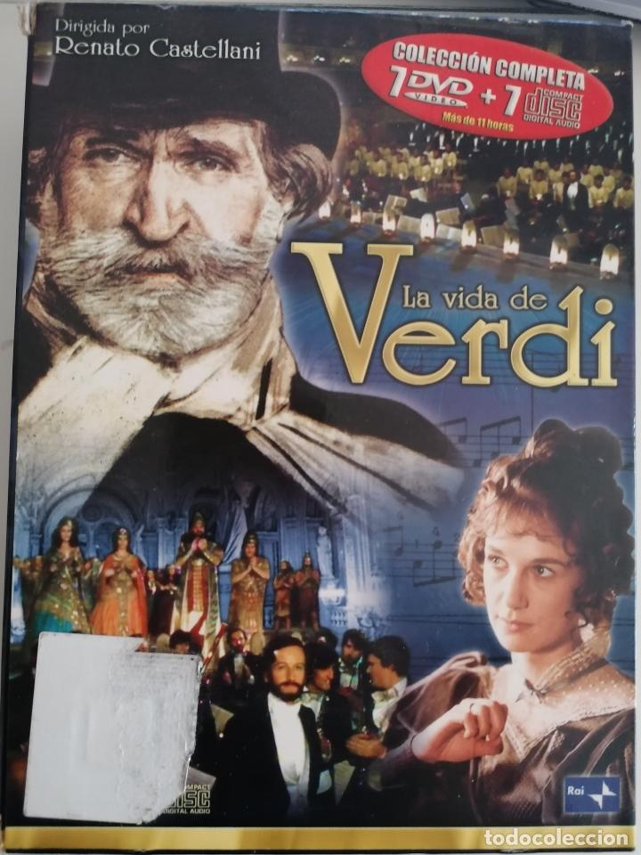 LA VIDA DE VERDI.DVD SERIE COMPLETA. 7 DVD Y 7 DISCOS. (Series TV en DVD)