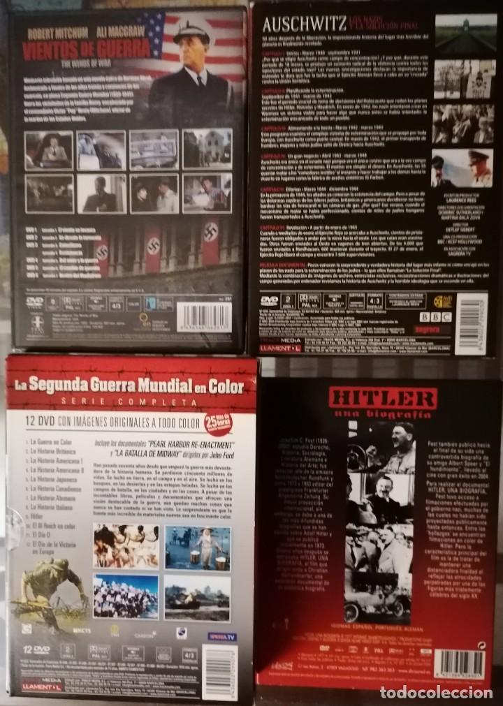 Series de TV: VIENTOS DE GUERRA (6 DVD), AUSCHWITZ LOS NAZIS Y LA SOLUCION FINAL (4DVD), HITLER UNA BIOGRAFIA Y LA - Foto 2 - 211438991