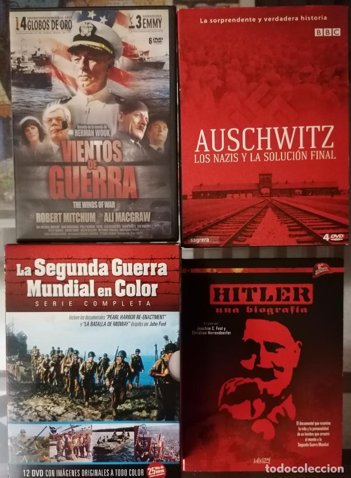 VIENTOS DE GUERRA (6 DVD), AUSCHWITZ LOS NAZIS Y LA SOLUCION FINAL (4DVD), HITLER UNA BIOGRAFIA Y LA (Series TV en DVD)