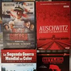 Series de TV: VIENTOS DE GUERRA (6 DVD), AUSCHWITZ LOS NAZIS Y LA SOLUCION FINAL (4DVD), HITLER UNA BIOGRAFIA Y LA. Lote 211438991