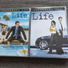 Series de TV: DVD SERIE - LIFE - TEMPORADAS 1 Y 2 - DAMIAN LEWIS - ESPAÑA - RARE. Lote 213961140