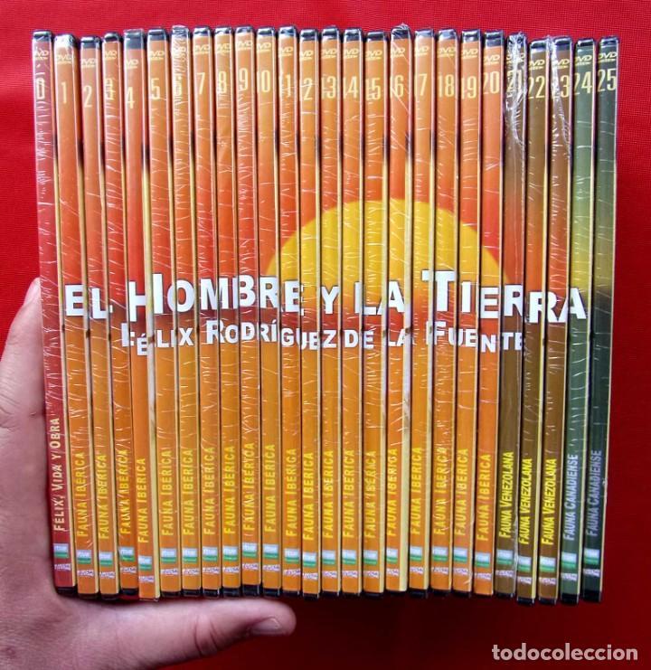 EL HOMBRE Y LA TIERRA. FÉLIX RODRÍGUEZ DE LA FUENTE. SERIE COMPLETA. 26 DVDS.TODOS PRECINTADOS. (Series TV en DVD)