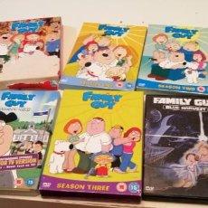 Series de TV: C-5 IMPRESIONANTE LOTE DE DVD DE LA SERIE PADRE DE FAMILIA EN INGLES FAMILY GUY UNOS 24 DVD VER FOTO. Lote 218749822