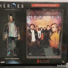 Series de TV: HEROES TEMPORADA 2 - DVD CAJA METÁLICA 5 DISCOS + FIGURA DE HIRO. (ENVÍO 4,31€). Lote 221627530