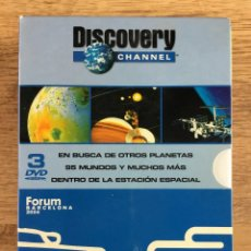 Series de TV: DISCOVERY CHANNEL PACK 3 DVD DOCUMENTALES - FORUM BARCELONA 2004. Lote 222129268