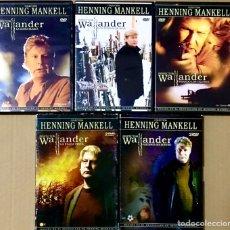 Series de TV: LOTE PACK 5 DVD SERIE INSPECTOR WALLANDER COLECCION HENNING MANKELL LA LEONA BLANCA PERROS DE RIGA. Lote 221514882