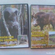 Series de TV: LOTE DE 2 DVD DOCUMENTALES DE CAZA : MONTERIAS, CAZA DEL JABALI, ETC . 2007. Lote 222497386