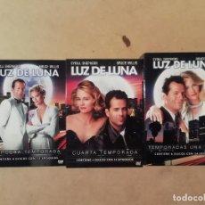 Séries TV: LUZ DE LUNA : TEMPORADAS 1 2 3 Y 4 - WILLIS SHEPHERD - 14 DVDS CON 53 EPISODIOS -(DVD). Lote 235079255