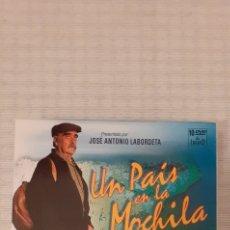 Series de TV: SERIE DE TVE, UN PAÍS EN LA MOCHILA, LIBRO + 10 DVD. Lote 235359295