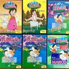 Series de TV: LOTE 6 DVD HEIDI SERIE LA PELICULA Y MARCO - COLECCION INFANTIL - NO TE VAYAS MAMA - 1 3 MONTAÑA. Lote 236169205