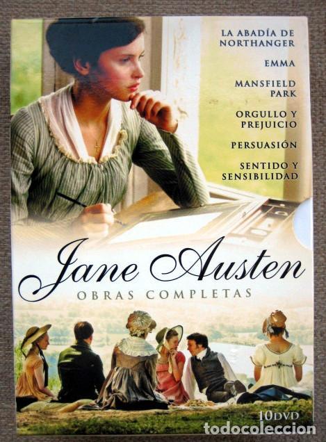 OBRAS COMPLETAS JANE AUSTEN. 10 DVD EMMA, ORGULLO Y PREJUICIO, PERSUASIÓN, SENTIDO Y SENSIBILIDAD... (Series TV en DVD)