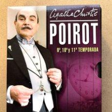 Series de TV: POIROT / AGATHA CHRISTIE / SERIE, 9ª,10ª Y 11ª TEMPORADAS / 12 DVD / 12 CAPÍTULOS /. Lote 240279820