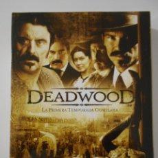 Series de TV: DEADWOOD. LA PRIMERA TEMPORADA COMPLETA EN DVD. 4 DISCOS CON 12 EPISODIOS.. Lote 242445270