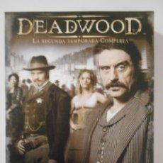 Series de TV: DEADWOOD. LA SEGUNDA TEMPORADA COMPLETA EN DVD. 4 DISCOS CON 12 EPISODIOS.. Lote 242445545
