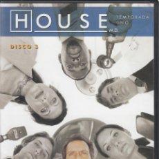Series de TV: HOUSE M.D. TEMPORADA 1, DISCO 3.. Lote 248728260