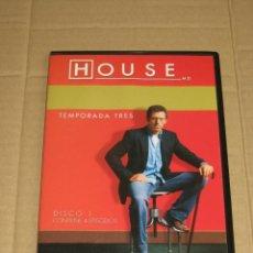 Series de TV: HOUSE - TEMPORADA TRES _ DISCO 1 - CONTIENE 4 EPISODIOS. Lote 249206890
