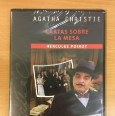 Séries TV: DVD SERIE AGATHA CHRISTIE - CARTAS SOBRE LA MESA, CON HÉRCULES POIROT. PRECINTADO. Lote 255544680