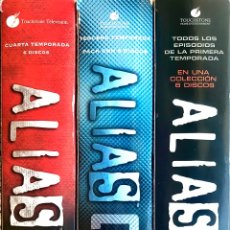Series de TV: LOTE 3 PACKS DVD SERIE TV ALIAS EPISODIOS TEMPORADA COMPLETA 1 3 4 COLECCION 6 DISCOS. Lote 274227358