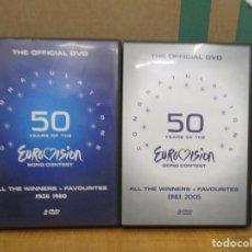 Series de TV: 50 AÑOS DE EUROVISION - DE 1956 AL 2005 - 4 DVDS -100 CANCIONES - CON DOS LIBRETOS - AGOTADO. Lote 277704123