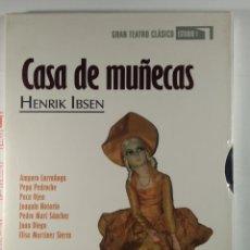 Series de TV: DVD CASA DE MUÑECAS. HENRIK IBSEN. GRAN TEATRO CLÁSICO ESTUDIO 1. Lote 288076788