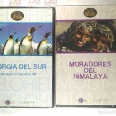 Series de TV: DVD(2) GEORGIA DEL SUR Y MORADORES DEL HIMALAYA. DOCUMENTAL TERRITORIO SALVAJE. Lote 288078458