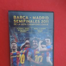 Series de TV: BARCA-MADRID - SEMIFINALES 2011 DE LA UEFA CHAMPIONS LEAGUE - DVD. Lote 289880118