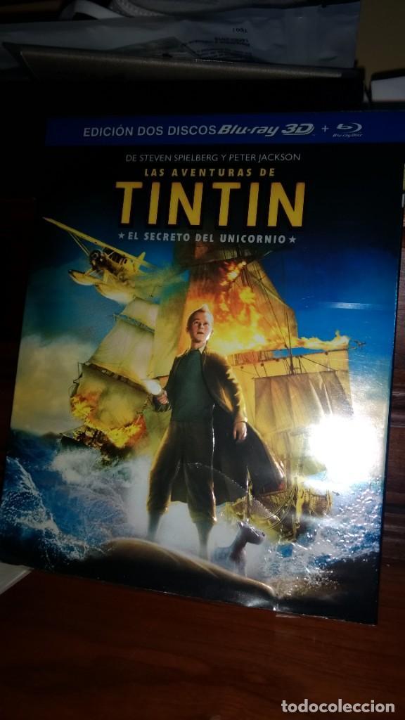 TINTIN EL SECRETO DEL UNICORNIO EDICION 2 DISCOS BLU-RAY 3D + DVD -STEVEN SPIELBERG (Series TV en DVD)