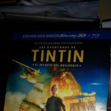 Series de TV: TINTIN EL SECRETO DEL UNICORNIO EDICION 2 DISCOS BLU-RAY 3D + DVD -STEVEN SPIELBERG. Lote 293668963