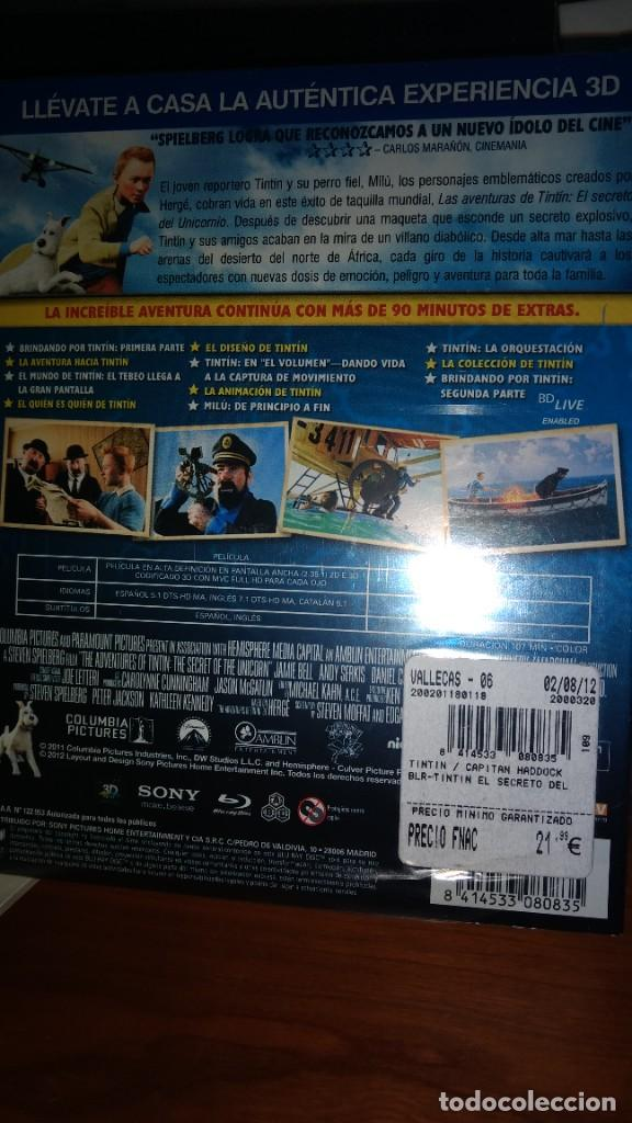 Series de TV: TINTIN El Secreto del Unicornio EDICION 2 Discos BLU-RAY 3D + DVD -Steven Spielberg - Foto 2 - 293668963