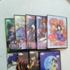 Series de TV: LOTE DE 9 DVD KENSHIN EL GUERRERO SAMURAI. Lote 294500358