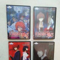 Series de TV: LOTE DE 4 DVD KENSHIN EL GUERRERO SAMURAI ( LEER DESCRIPCIÓN ). Lote 294500828