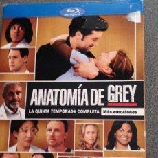 Series de TV en Blu Ray: ANATOMÍA DE GREY. TEMPORADA 5 COMPLETA. 7 DISCOS. Lote 110175184