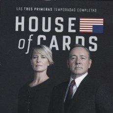 Series de TV en Blu Ray: HOUSE OF CARDS. LAS TRES PRIMERA TEMPORADAS COMPLETAS.. Lote 89494720