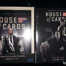 Series de TV en Blu Ray: HOUSE OF CARDS TEMPORADAS 1 Y 2 BLU RAY EDICIÓN ESPAÑA DIGIPAK T1 T2. Lote 103172887