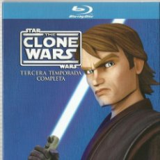 Series de TV en Blu Ray: STAR WARS: THE CLONE WARS - TERCERA TEMPORADA COMPLETA (BLU-RAY). Lote 123837486