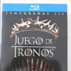 Series de TV en Blu Ray: JUEGO DE TRONOS. BLURAY. TEMPORADAS 1 Y 2 COMPLETAS. 5 BLURAYS CADA TEMPORADA CON 10 CAPITULOS CADA . Lote 130789312