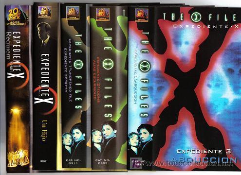 LOTE 1 DE CINCO PELICULAS EXPEDIENTE X (Series TV en VHS )