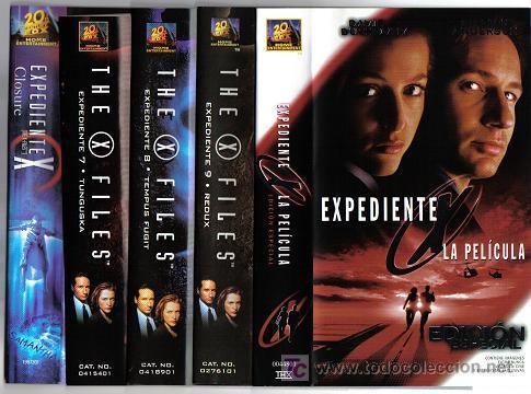 LOTE 2 CINCO PELICULAS EXPEDIENTE X (Series TV en VHS )