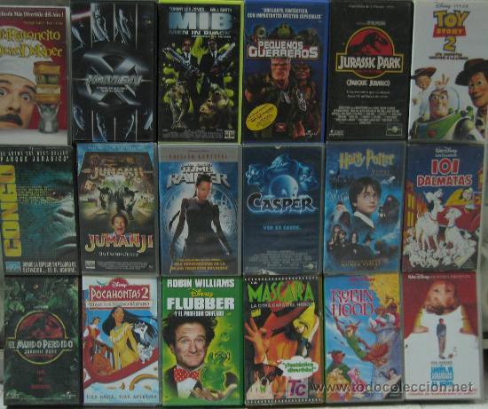 LOTE 43 PELÍCULAS VIDEO VHS (FUBBER, TOY STORY 2, JURASIC PARK, MEN IN BLACK, PEQUEÑOS GUERREROS...) (Series TV en VHS )