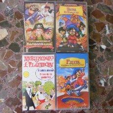 Series de TV: LOTE DE 4 PELICULAS VHS INFANTILES (TODAS ORIGINALES)---INCLUYE 1 DE MORTADELO Y FILEMON. Lote 25984404