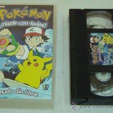 Series de TV: VIDEO VHS POKEMON HAZTE CON TODOS-MENUDO DIA LIBRE-ESTUCHE ORIGINAL. Lote 88165147