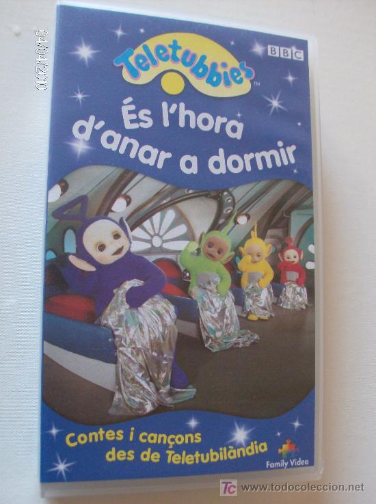 """PELICULA VHS TELETUBBIES """"ES L'HORA D'ANAR A DORMIR"""" (Series TV en VHS )"""