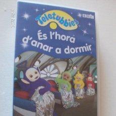 """Series de TV: PELICULA VHS TELETUBBIES """"ES L'HORA D'ANAR A DORMIR"""". Lote 26757464"""