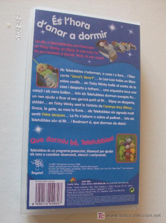 """Series de TV: PELICULA VHS TELETUBBIES """"ES LHORA DANAR A DORMIR"""" - Foto 2 - 26757464"""